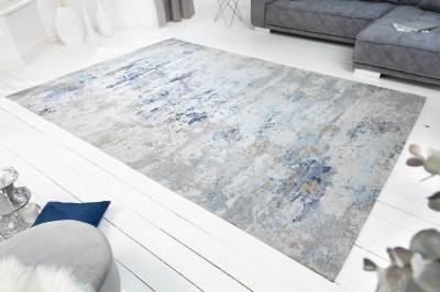 Designový koberec Jakob 350 x 240 cm šedo-modrý