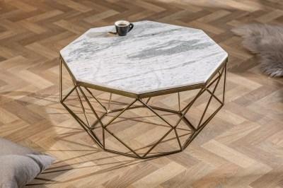 Designový konferenční stolek Acantha 70 cm mramor bílý