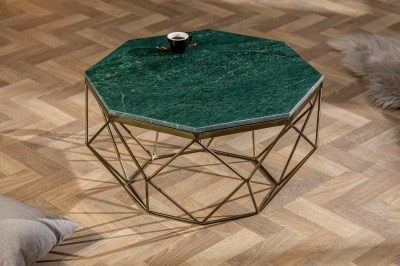 Designový konferenční stolek Acantha 70 cm mramor zelený