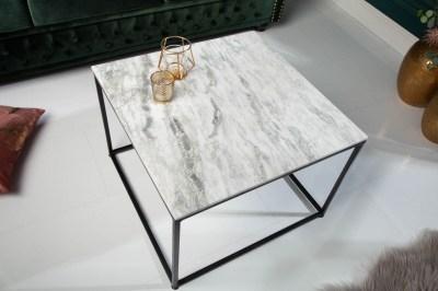 Designový konferenční stolek Factor 50 cm mramor bílý