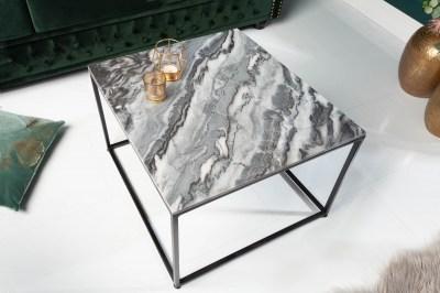Designový konferenční stolek Factor 50 cm mramor šedý