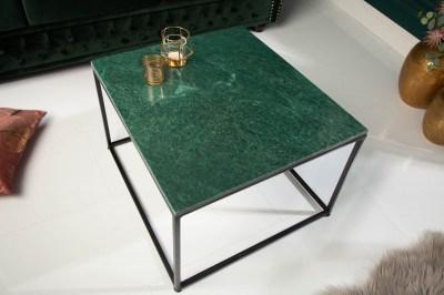 Designový konferenční stolek Factor 50 cm mramor zelený