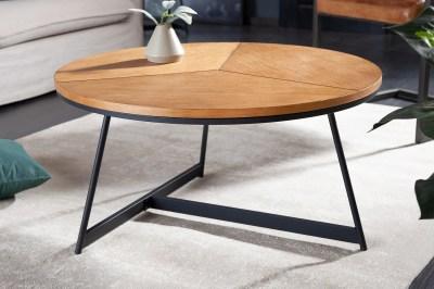 Designový konferenční stolek Faxon 80 cm imitace dub