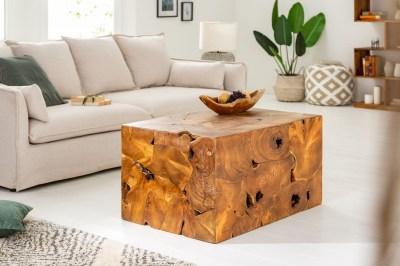 Designový konferenční stolek Junk 90 cm teak