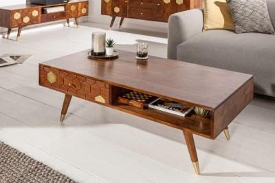 Designový konferenční stolek Justice 117 cm akácie