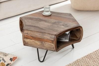 Designový konferenční stolek Lorelei 72 cm sheesham kouřový
