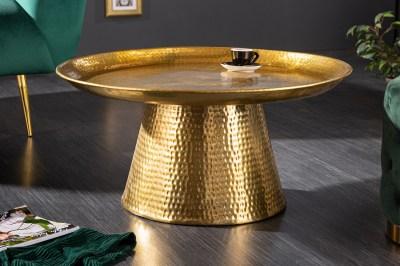 Designový konferenční stolek Malia 63 cm zlatý