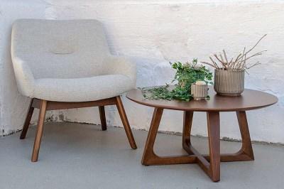 Designový konferenční stolek Miriam, ořech