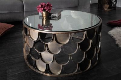 Designový konferenční stolek Pablo 60 cm mosaz