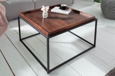 Designový konferenční stolek s tácem Factor 60 cm mokka buk