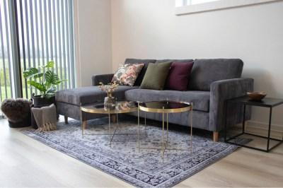 Designový konferenční stolek Tatum 48 cm zlatý-černý
