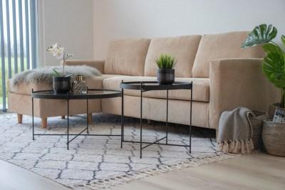Designový konferenční stolek Tatum 70 cm černý