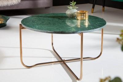Designový konferenční stolek Tristen 62 cm mramor zelený