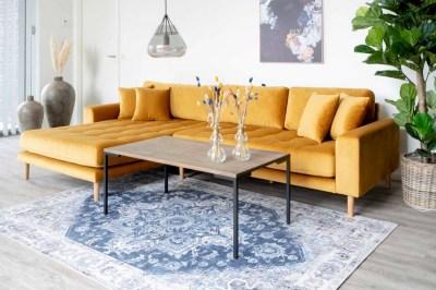Designový konferenční stolek Willie 110 cm kouřový dub