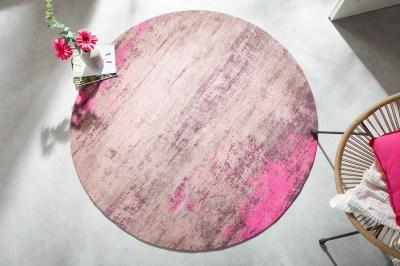 designovy-kulaty-koberec-rowan-150-cm-bezovo-ruzovy-2