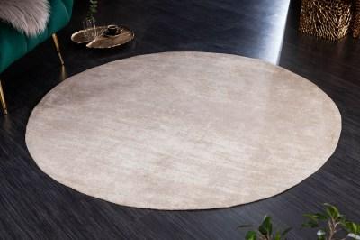 Designový kulatý koberec Rowan 150 cm béžový