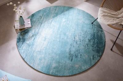 designovy-kulaty-koberec-rowan-150-cm-tyrkysove-bezovy-1