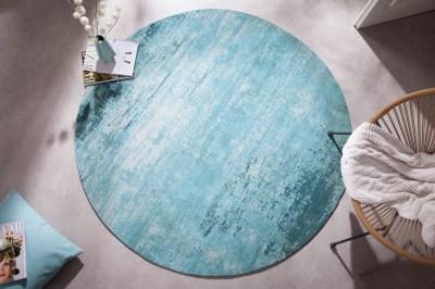 designovy-kulaty-koberec-rowan-150-cm-tyrkysove-bezovy-2