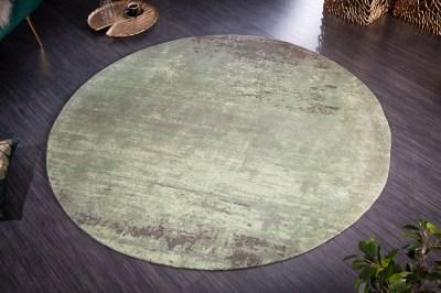 Designový kulatý koberec Rowan 150 cm zeleno-béžový
