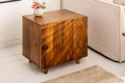 Designový noční stolek Shayla 50 cm hnědé mango