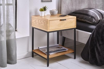 Designový noční stolek Factor 40 cm dub