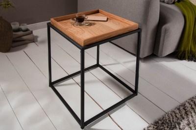 Designový odkládací stolek Factor 40 cm dub