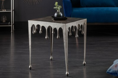 Designový odkládací stolek Gwendolyn S 44 cm stříbrný