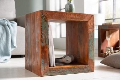Designový odkládací stolek Jacktar 45 cm recyklované dřevo