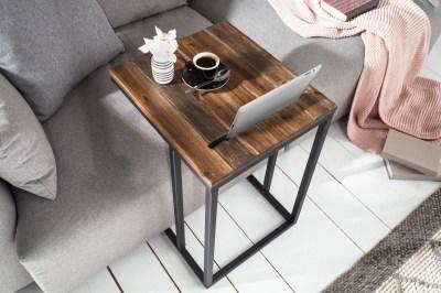 Designový odkládací stolek Factor Tablet 43 cm akácie