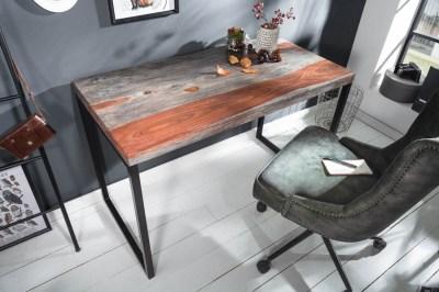 Designový psací stůl Factor 118 cm sheesham kouřový