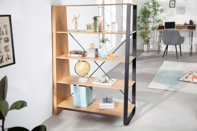 Designový regál Kiana 154 cm vzor dub