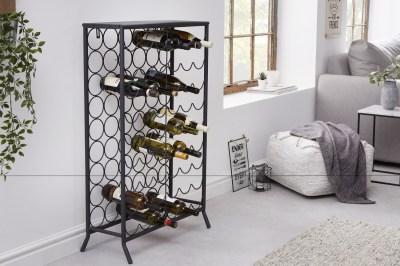 Designový regál na víno Dalya 102 cm černý