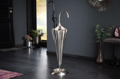 Designový stojan na deštníky Harlean 91 cm stříbrný