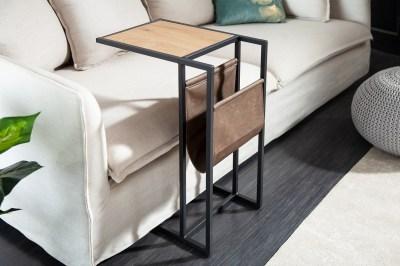 Designový stůl na notebook s úložným prostorem Giuliana 48 cm imitace dub