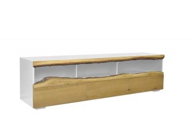 Designový TV stolek Kira 180 cm dub - bílý