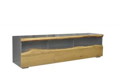 Designový TV stolek Kira 180 cm dub - šedý
