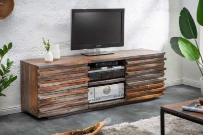 Designový TV stolek Lorenzo 150 cm sheesham kouřový