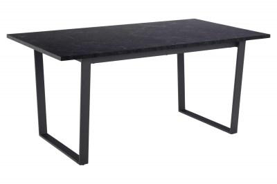 Designový jídelní stůl Nayo 160 cm černý mramor