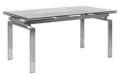 Designový jídelní stůl Neema 160-240 cm sklo - chrom