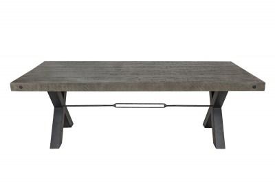 Designový jídelní stůl Thunder 240 cm šedý - borovice