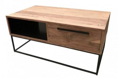 Designový konferenční stolek Malakai 110 cm přírodní - akácie