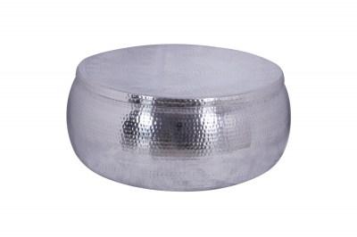 Designový konferenční stolek Malia Storage 70 cm stříbrný