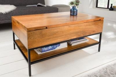 Designový konferenční stolek Unity 80 cm přírodní - mango