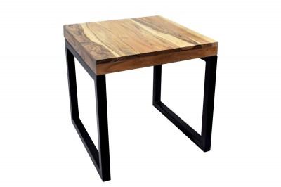 Designový odkládací stolek Factor 45 cm přírodní akácie - černý rám