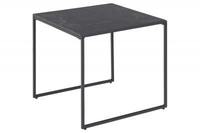 Designový odkládací stolek Joslyn černý mramor