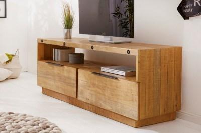 Designový TV stolek Harlow 150 cm přírodní - borovice