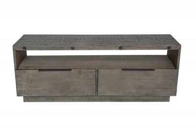 Designový TV stolek Harlow 150 cm šedý - borovice