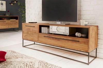 Designový TV stolek Malakai 165 cm přírodní - akácie