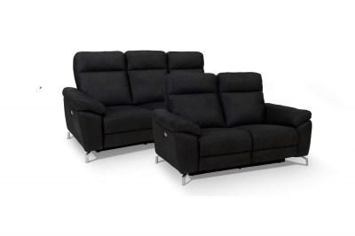 Designová 2-místná sedačka Abeeku, černá