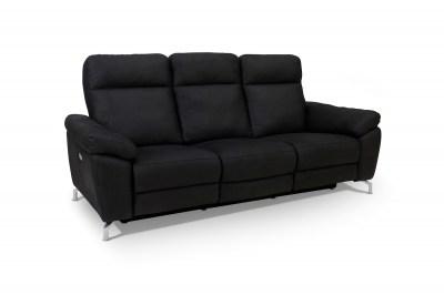 Designová 3-místná sedačka Abeeku, černá